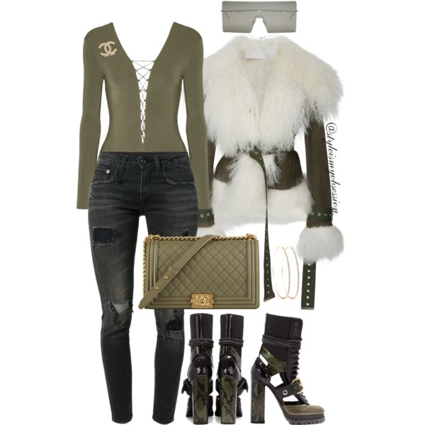Style Inspiration Buckle Up Monse Shearling Jacket Burberry Boots T by Alexander Wang Bodysuit Chanel Boy Bag.jpg
