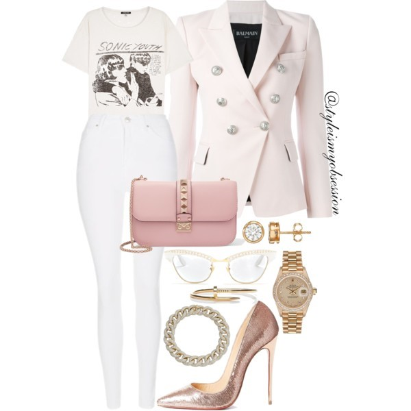 Style Inspiration Fountain of Youth Balmain Blazer Christian Louboutin So Kate Sequin Pump Valentino Rockstud Shoulder Bag.jpg