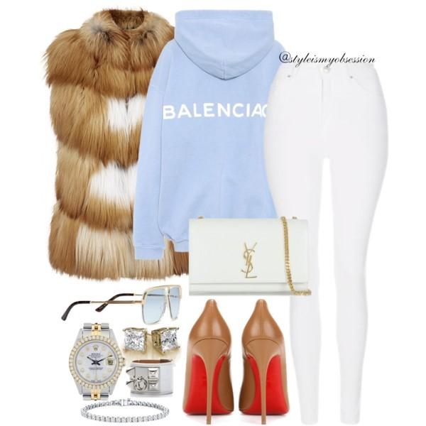 Style Inspiration So Hood Balenciaga Hoodie Christian Louboutin So Kate Pump Saint Laurent Shoulder Bag.jpg