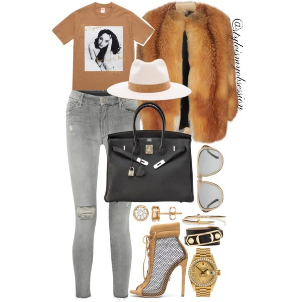 Style Inspiration Smooth Operator Supreme New York Sade Tee Hermes Birkin Bag Mother Jeans Yves Salomon Fox Fur Coat.jpg