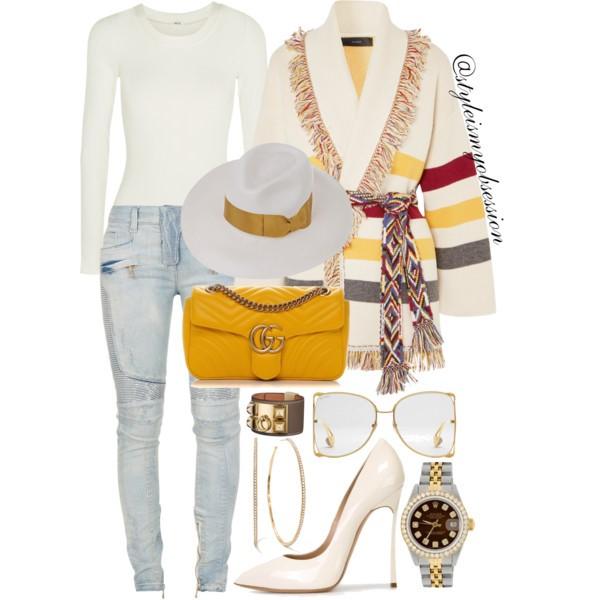 Style Inspiration Mojave Desert Alanui Cardigan Gucci GG Marmont Matelasse Bag Casadei Blade Pump.jpg