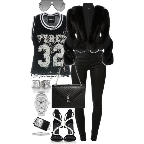 Style Inspiration All-Star Pyrex Jersey T-Shirt Brandon Maxwell Fur Coat Giuseppe Zanotti Crystal Embellished Sandal.jpg