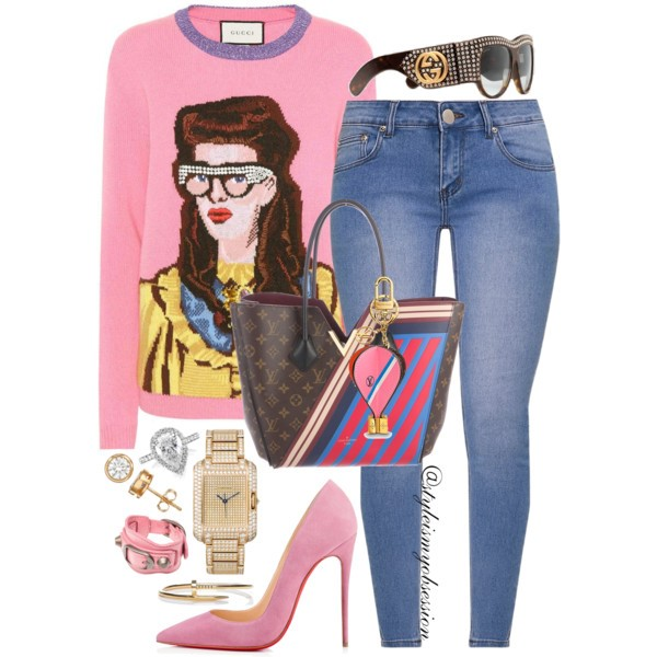 Style Inspiration Face Time Gucci Unskilled Worker Sweater Louis Vuitton Kimono Monogram Bag Christian Louboutin So Kate Suede Pump Gucci Oversize Crystal Sunglasses.jpg