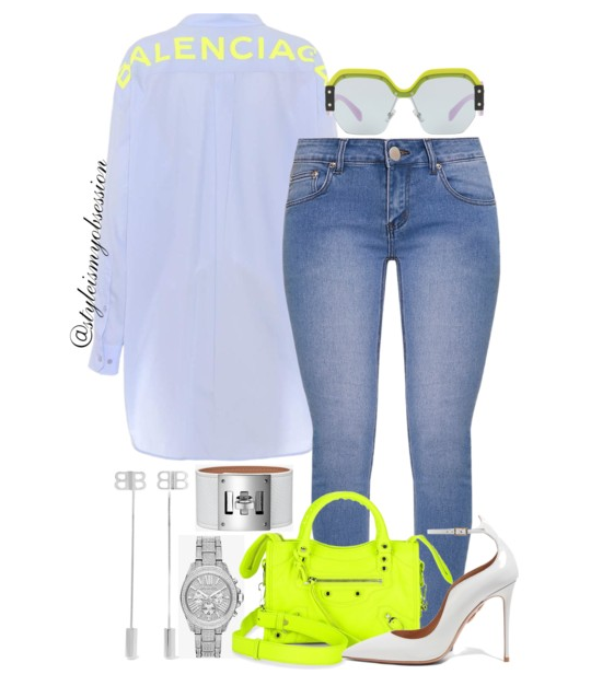 Style Inspiration Got My Back Balenciaga Poplin Shirt Balenciaga Metallic Edge City Mini Bag Aquazzura Dolce Vita Pump Miu Miu Irregular Sunglasses.PNG