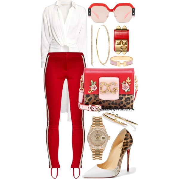Style Inspiration Jungle Love Gucci Side-Stripe Leggings Dolce & Gabbana DG Millennials Bag Christian Louboutin So Kate Pump Miu Miu Irregular Sunglasses.jpg