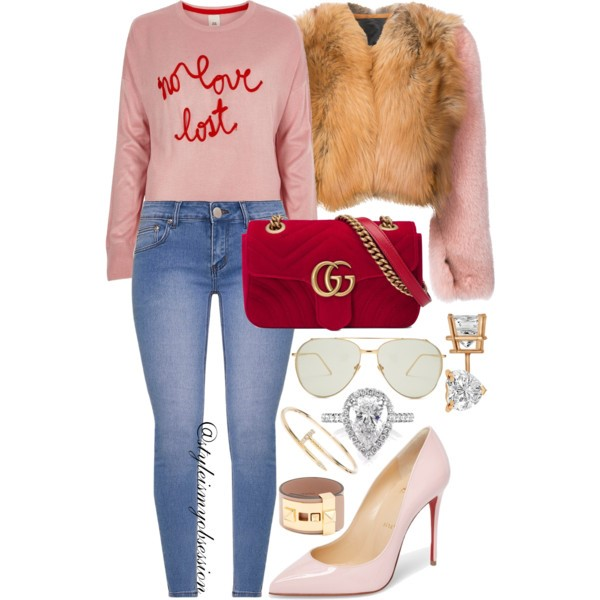 Style Inspiration No Love Lost Diane von Furstenberg Coat River Island No Love Lost Slogan Sweater Christian Louboutin Pigalle Follies Pump Gucci GG Marmont Velvet Mini Bag.jpg