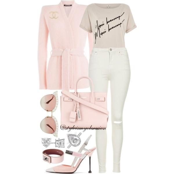Style Inspiration Merci Balmain Cardigan Prada Glossed Slingback Pump Saint Laurent Small Sac De Jour Bag Gucci Embellished Cateye Sunglasses.jpg
