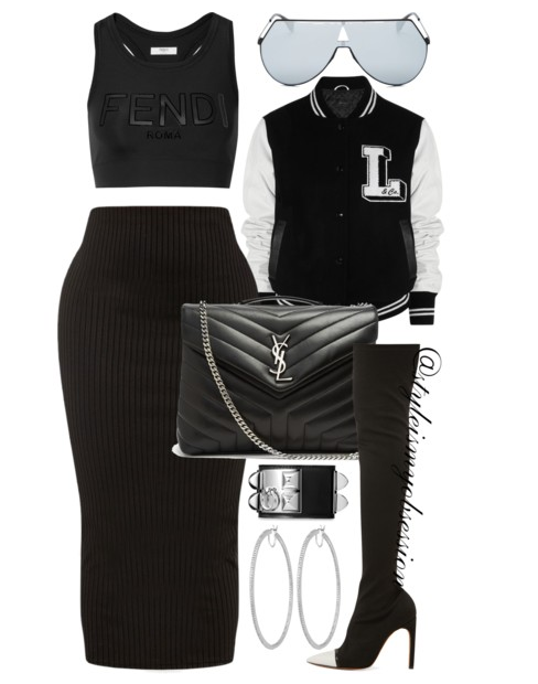 Style Inspiration Above The Rim Lulu & Co Varsity Jacket Fendi Sports Bra Saint Laurent Lou Lou Bag Gianvito Rossi Over-The-Knee Boots.PNG