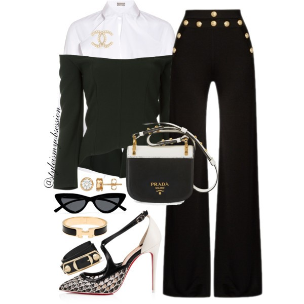 Style Inspiration Class Act Balmain Wide-Leg Trousers Christian Louboutin Twistissima Pump Prada Pionniere Bag.jpg
