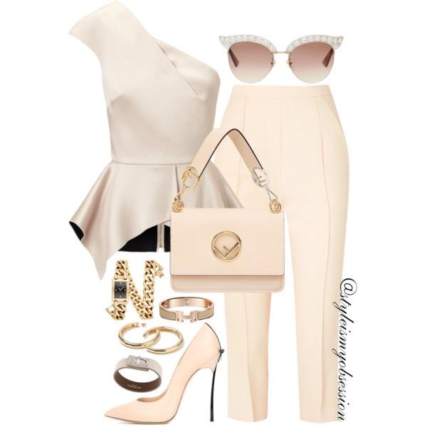 Style Inspiration Skinny Vanilla Latte Roland Mouret Rodmell Top Khaite Bridget Cropped Pants Casadei Blade Bow Detail Pump Fendi Kan I F Shoulder Bag.jpg