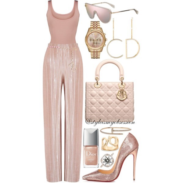 Style Inspiration Pink Lady Dior Pretty Little Thing Bodysuit Boohoo Velvet Culottes Christian Louboutin So Kate Pump Dior Lady Dior Bag Rag & Bone Shield Sunglasses.jpg