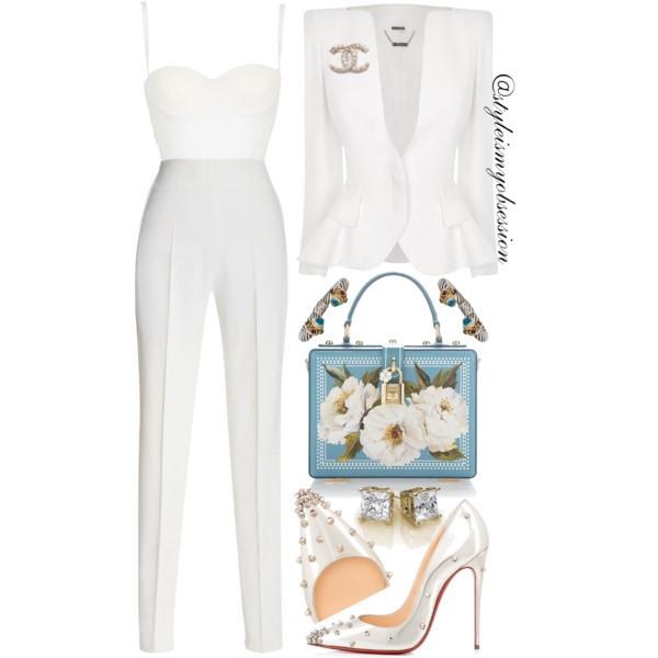 Style Inspiration Something Blue Alexander McQueen Blazer Chrisitan Louboutin Degraspike Pump Dolce & Gabbana Box Bag.jpg