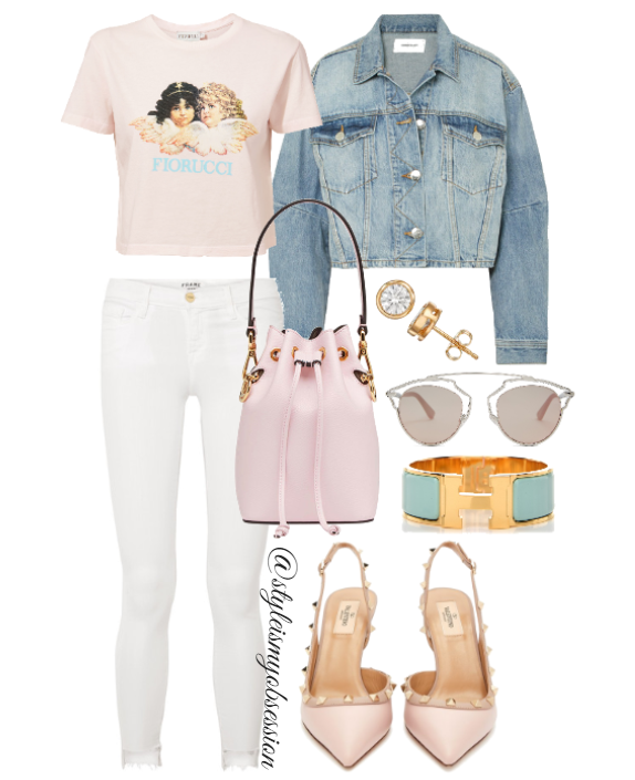 Style Inspiration Angel of Mine Fiorucci Angel Cropped Tee Valentino Rockstud Pump Fendi Bucket Mini Bag Dior So Real Sunglasses.PNG