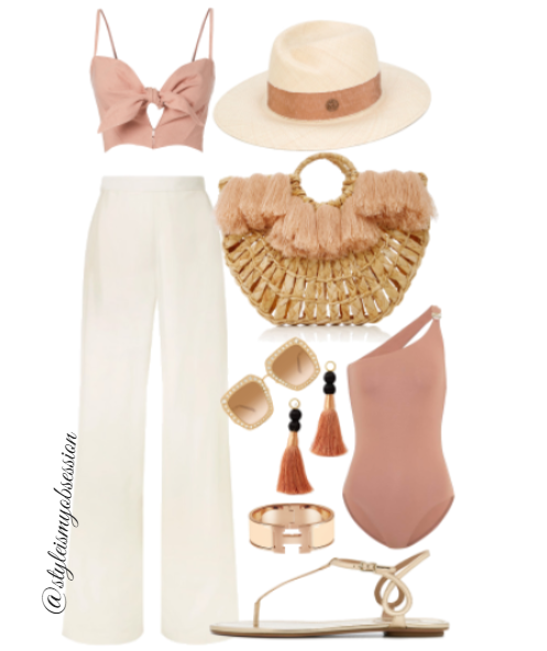Style Inspiration Life's A Beach Faithful The Brand Top Aquazzura Almost Bare Sandal Nannacay Beach Tote Gucci Oversize Square Crystal Embellished Sunglasses.PNG