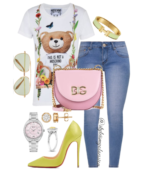 Style Inspiration Moschino Summer Moschino Print T-Shirt Christian Louboutin So Kate Pump Dolce & Gabbana Wifi leather shoulder bag.PNG