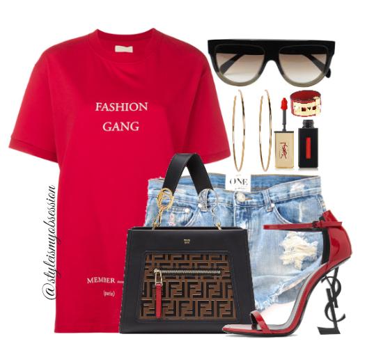 Style Inspiration Fashion Gang IH NOM UH NIT Fashion Gang Slogan T-Shirt Fendi Runaway Bag Saint Laurent Opyum Sandal Celine Shadow Sunglasses.PNG