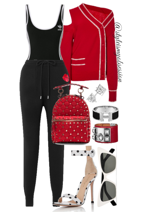 Style Inspiration Pep Squad Monse Cardigan Adidas Bodysuit Mark Lupfer Joggers Gianvito Rossi Portofino Sandal Valentino Rockstud Mini Backpack.PNG