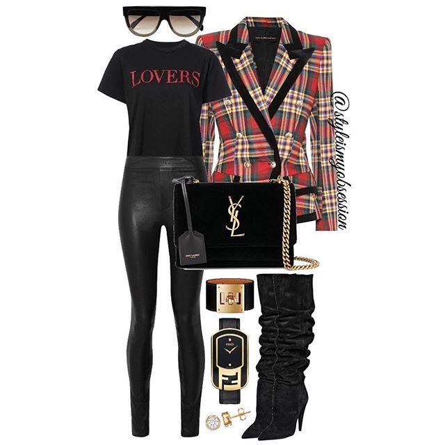 Lovers & Friends  Having another moment with today's chic fall outfit idea. Click the 🔗 in our bio for full outfit details, including shopping links and Look For Less options.  #style #fashion #instastyle #instafashion #styleismyobsession #styleinspiration #StylePost #FallFashion #FallTrends #AlexandreVauthier #SaintLaurent #Fendi #HelmutLang #Hermes #Amiri #Celine