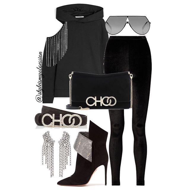 Ah-Choo  Step up your hoodie game with today's all-black embellished look. Click the 🔗 in our bio for full outfit details, including shopping links and Look For Less options.  #style #fashion #instastyle #instafashion #styleismyobsession #styleinspiration #lotd #StylePost #FallFashion #JimmyChoo #Aquazzura #TomFord #Fendi #IsabelMarant