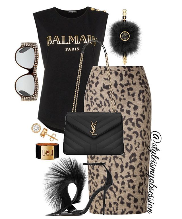 Animal Instincts  Walk on the wild side with today's leopard print and furry look. Click the 🔗 in our bio for full outfit details, including shopping links and Look For Less options.  #style #fashion #instastyle #instafashion #styleismyobsession #styleinspiration #ootd #StylePost #FallFashion #FallTrends #Balmain #MaxMara #SaintLaurent #Gucci #Fendi #Hermes