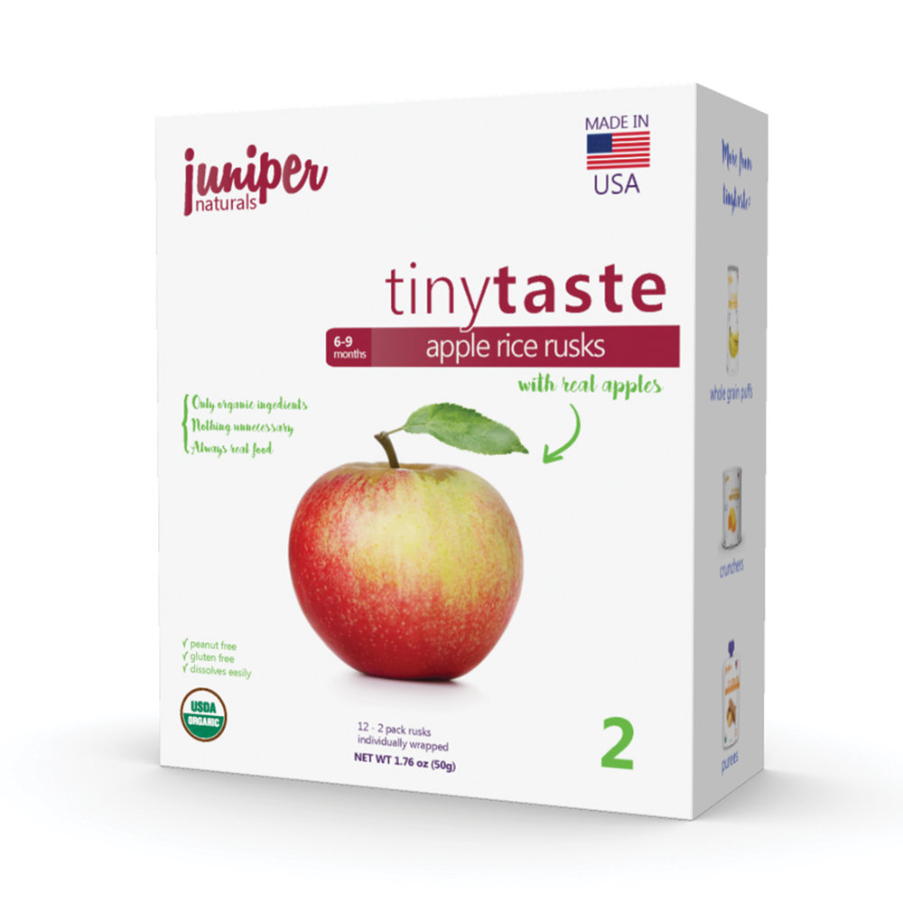 Juniper Naturals apple rice rusks