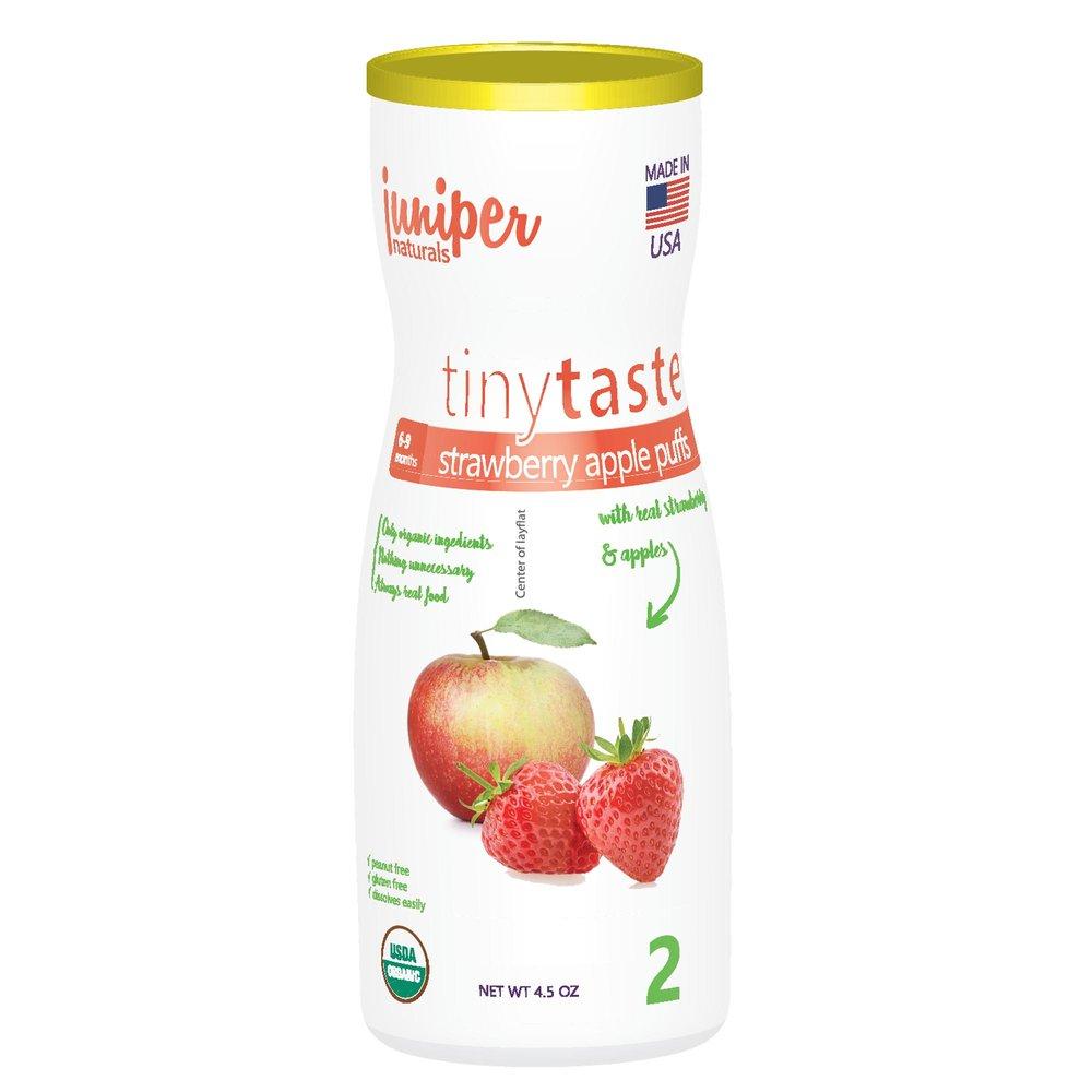 Juniper Naturals strawberry apple whole grain puffs