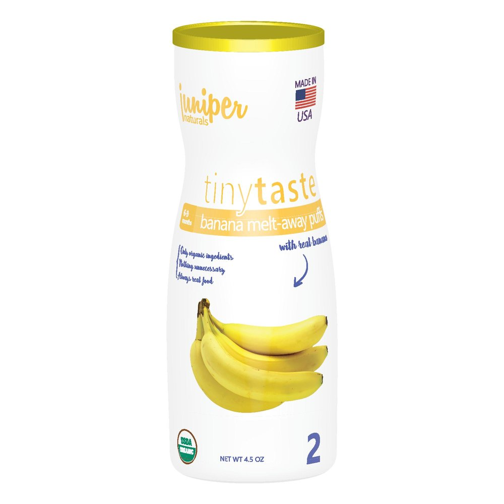 Juniper Naturals banana whole grain puffs