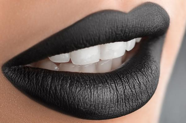 stylish black lips