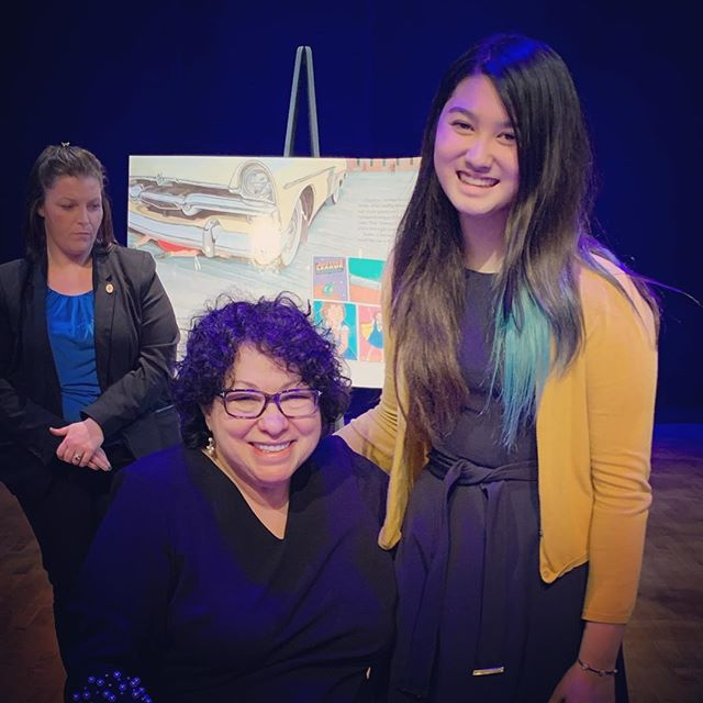Trinity got to meet Supreme Court Justice Sonia Maria Sotomayor and talk about her art! Trinity made a gift for Justice Sotomayor and for her mom.