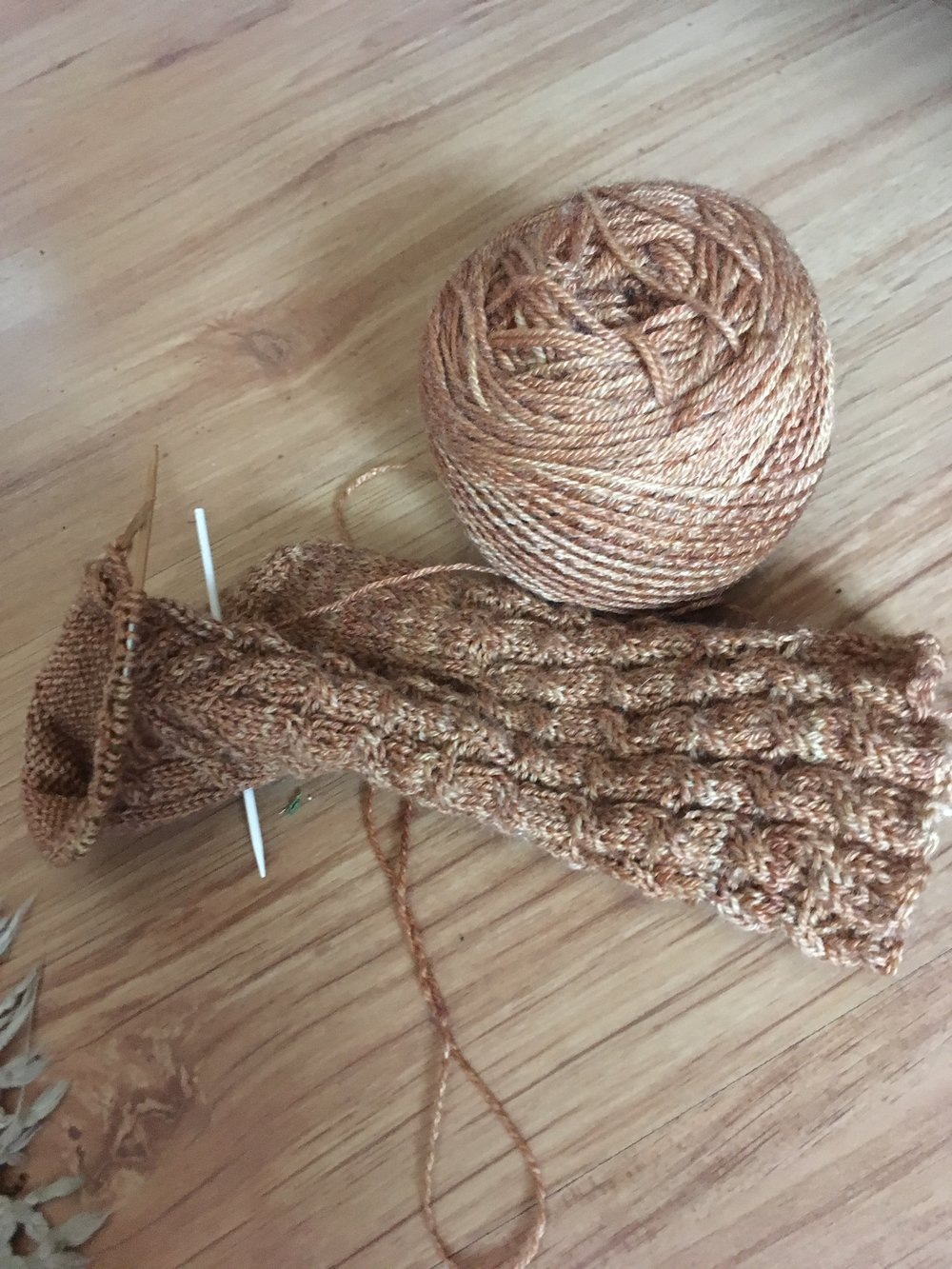 Cable Ribbing, and a staghorn cable on the foot.