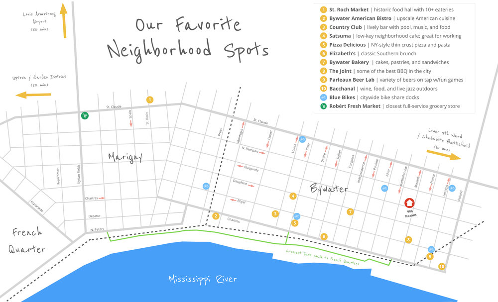 Bywater Map (Fall 2018)