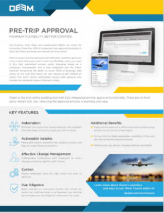 Deem Pre- Trip Approval -