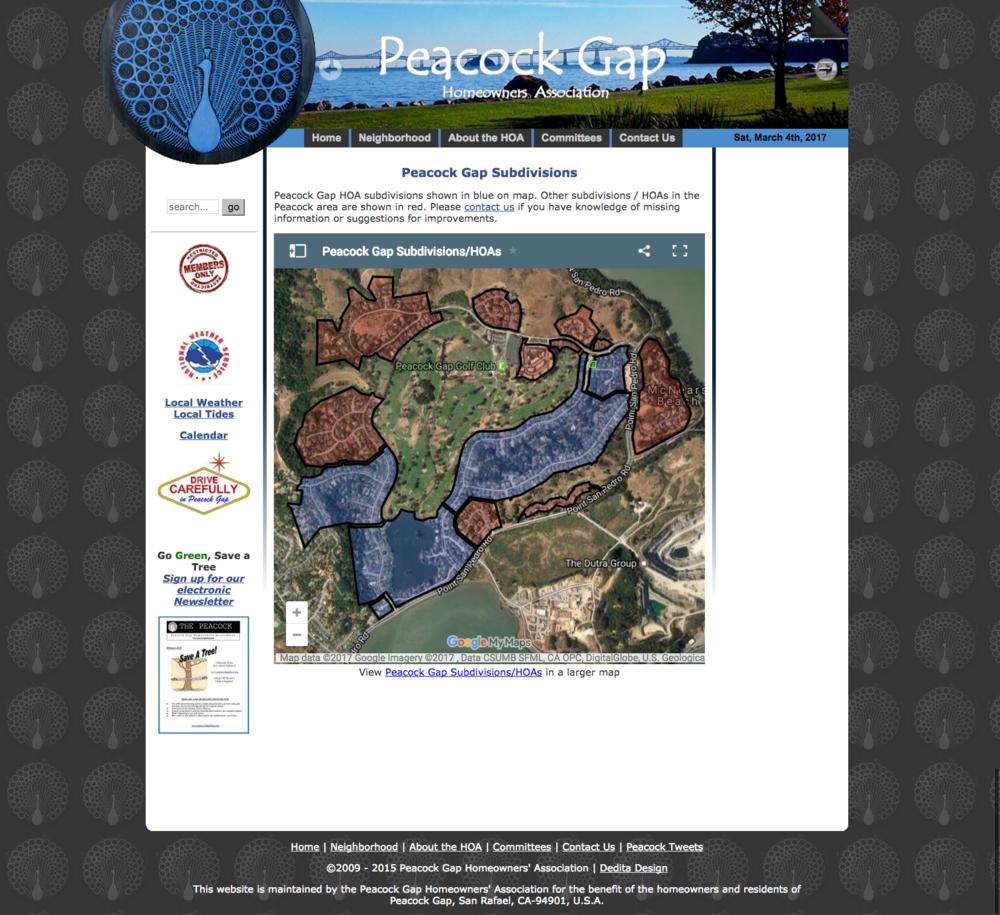 Peacock Gap Subdivisions