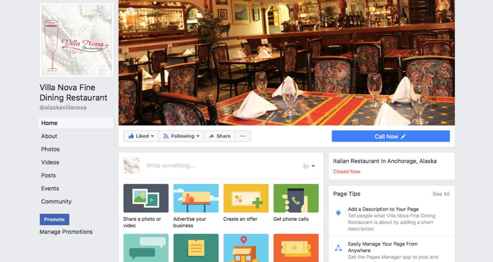 Villa Nova Fine Dining Facebook