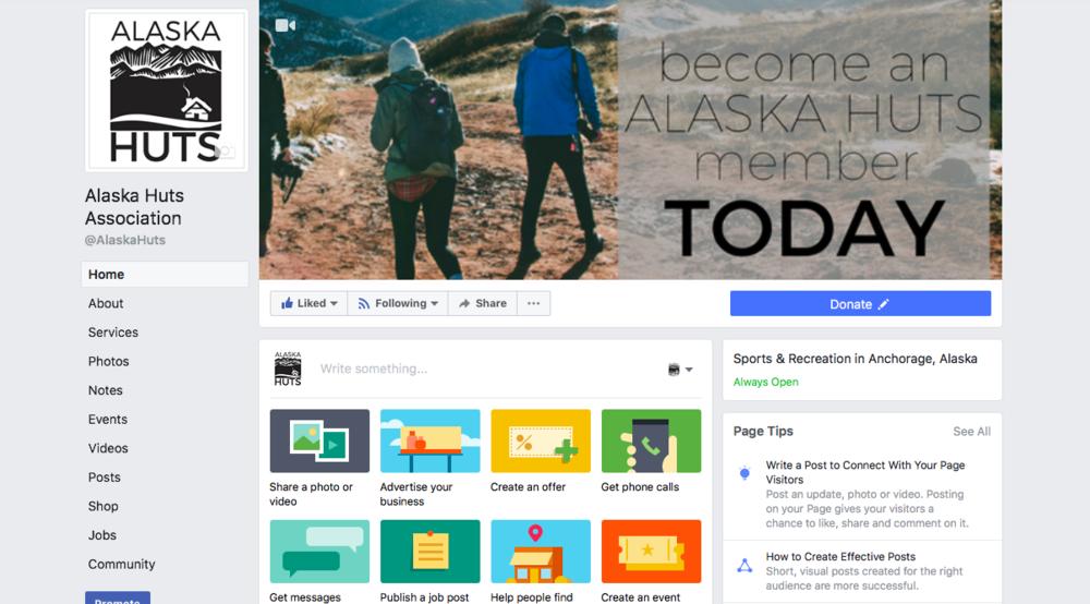 Alaska Huts Association Facebook