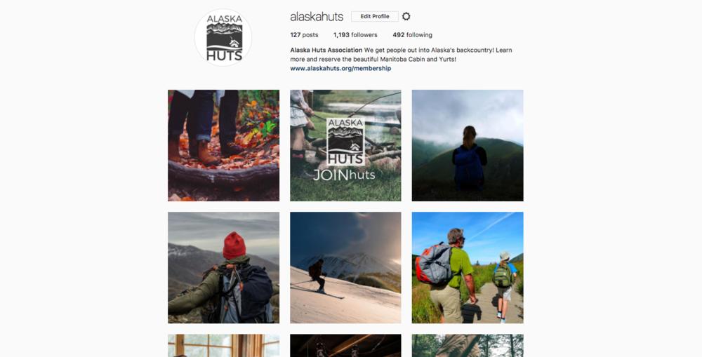 Alaska Huts Association Instagram