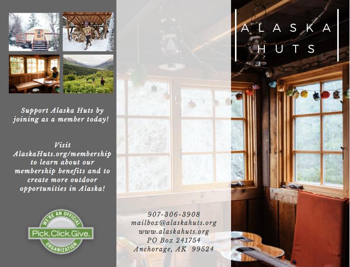 Alaska Huts Association - Tri-fold Brochure, design and copy