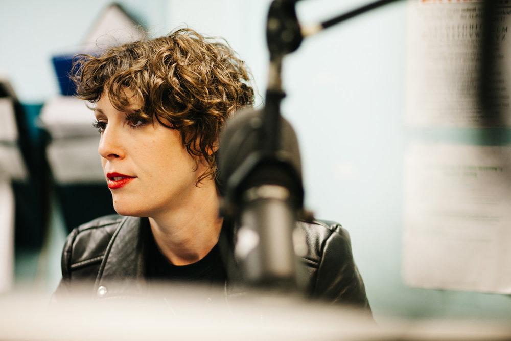Female radio DJ