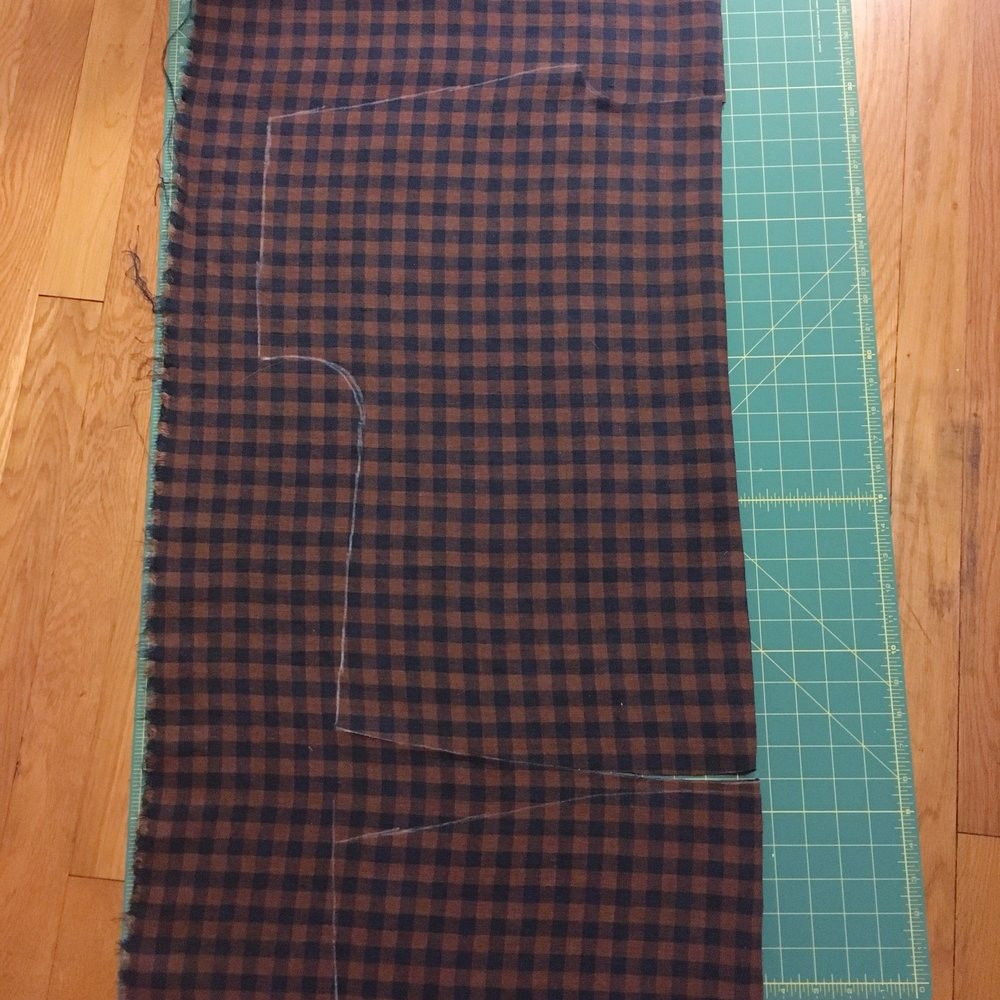 100 Acts of Sewing Shirt No. 1 - Laying out the pattern