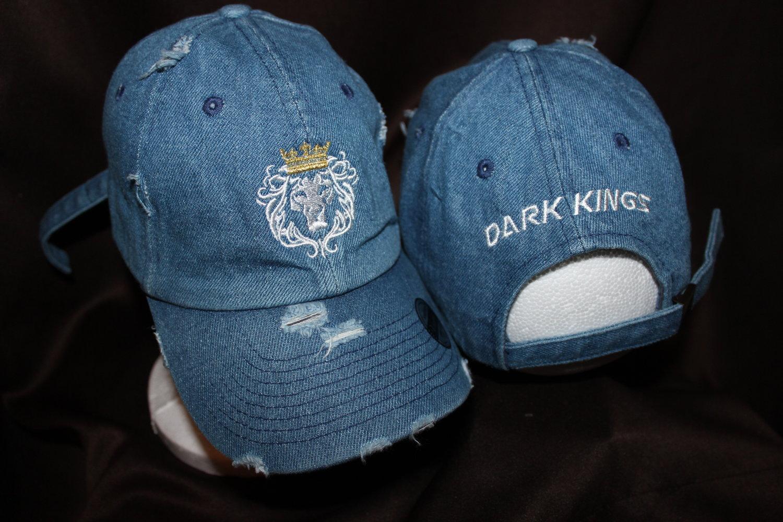 bb1fce4d Dark Kings Apparel - Light DEMIN Distressed Dad Hat