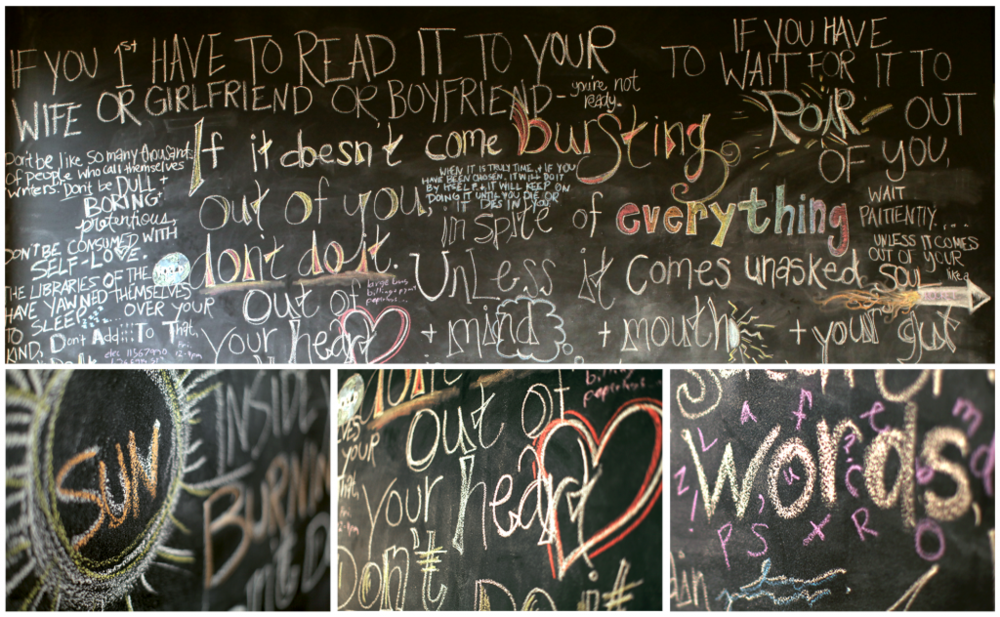 Purpose Chalkboard
