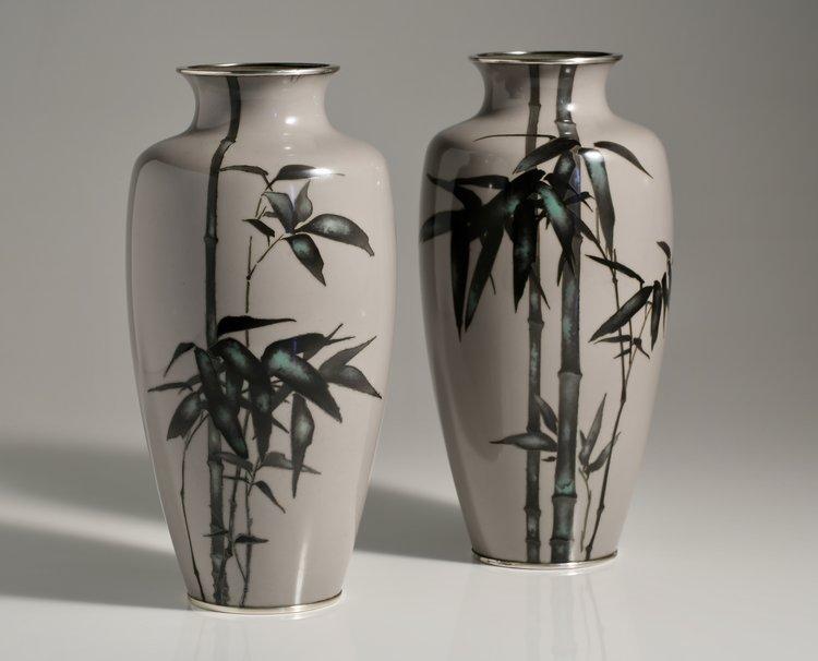 Pair Of Cloisonn Vases Brans Antiques Art