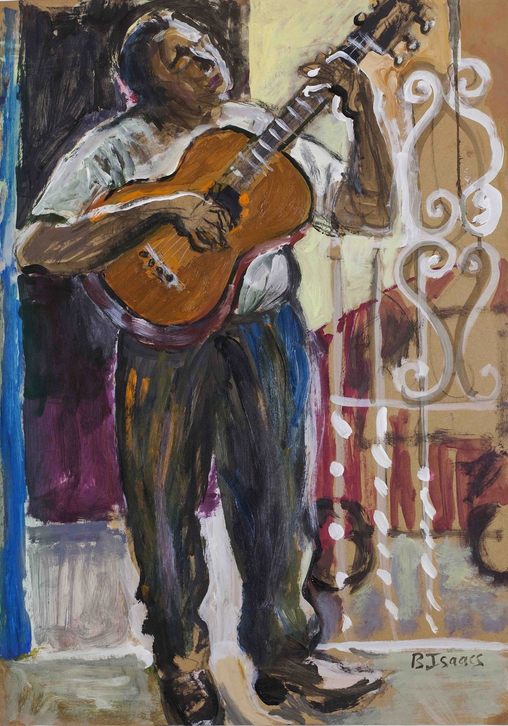 THE SERENADE Acrylic on Card | 79 x 101 cm (framed) | 2010