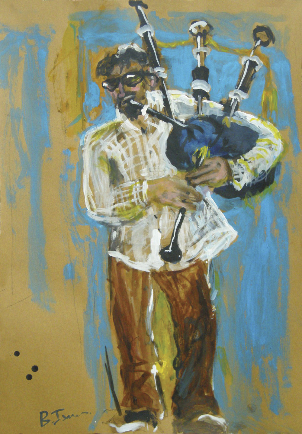 TRIBUTE TO ST.PATRICK'S BATTALION Mixed Media | 58 x 88 cm | 2010 SOLD  (Mexico)