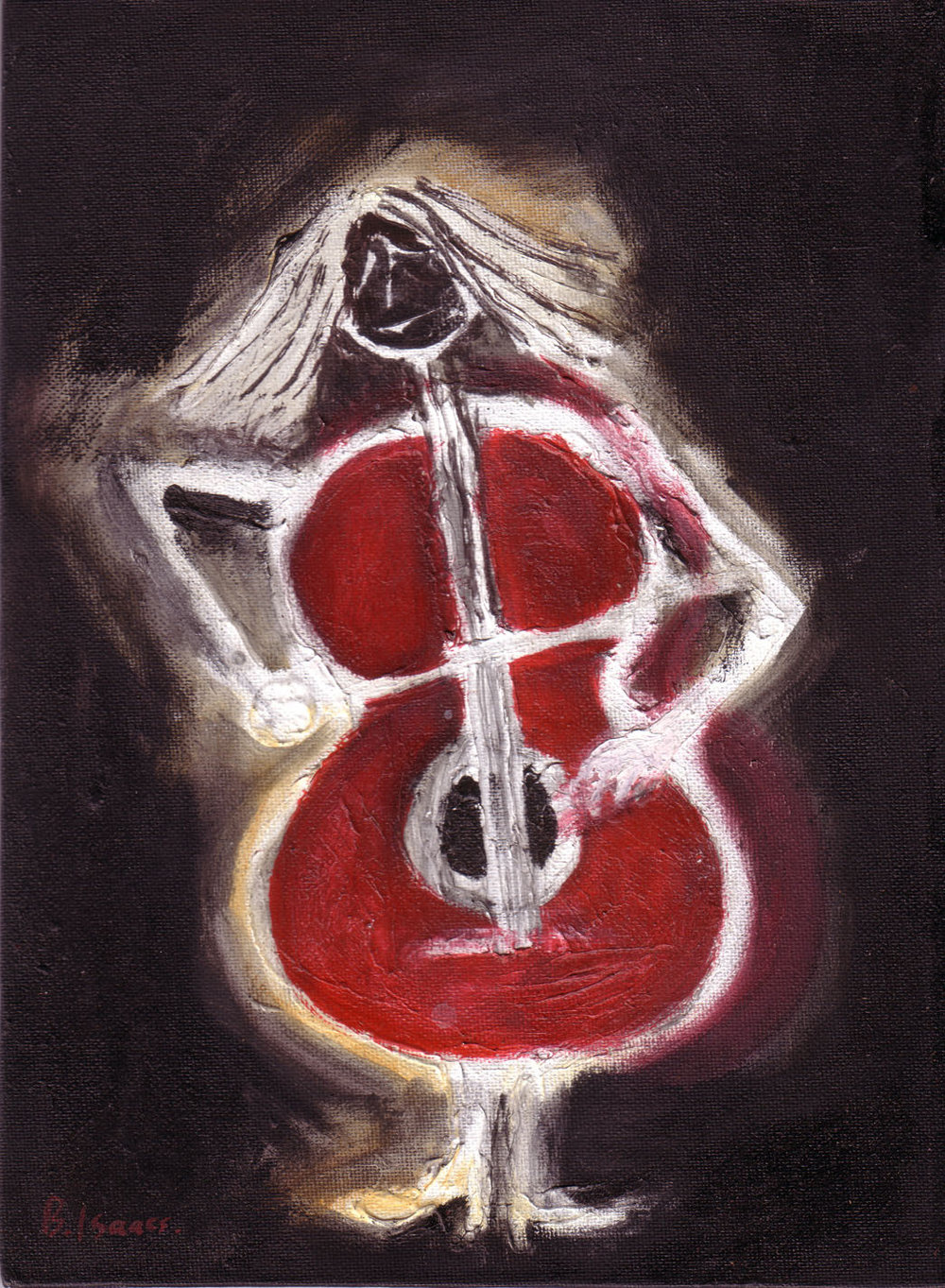I AM A CELLO Oil on Canvass Board |18 x 24 cm | 2008 Buy Framed £260.00