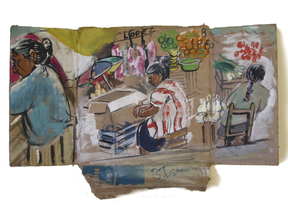 BOX ON A BOX IN A BOX  Gouache on handmade paper | 31 x 20 cm | 2007  Sold