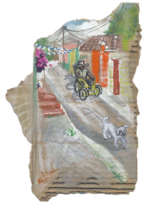 CALLE SAN CRISTOBAL  Gouache on Cardboard | 29 x 40.5 cm | 2007