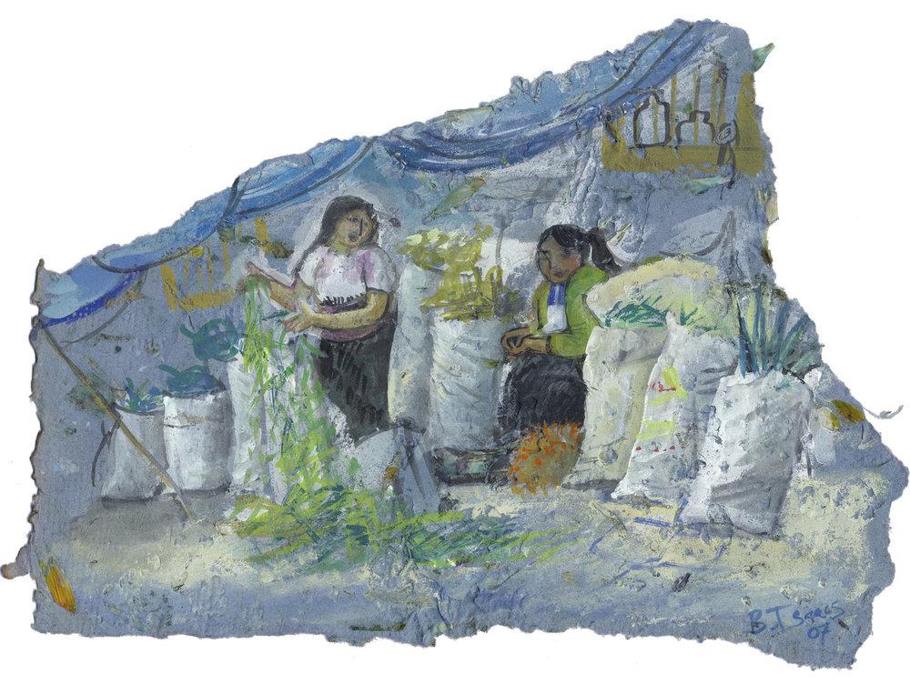 CHAMULANS  Gouache on handmade paper | 40 x 29 cm | 2007