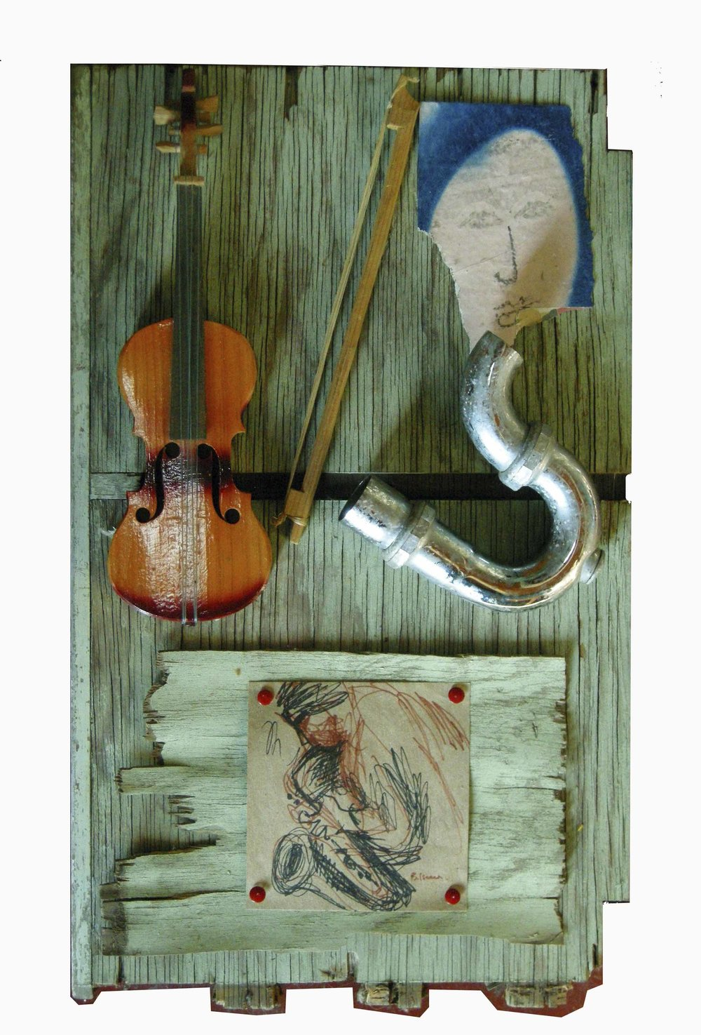 MUSICAL ENSEMBLE  Assemblage | 38 x 60 cm | 2008