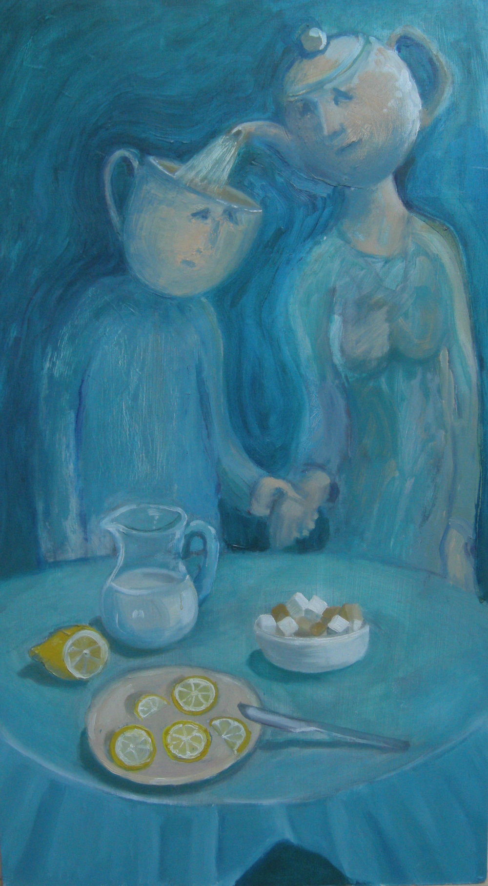 TEA FOR TWO  Oil on Wood | 35 x 63 cm | 2016 (Available - price on request)